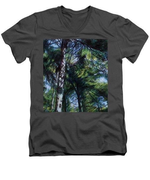 Colors Of Green Men's V-Neck T-Shirt