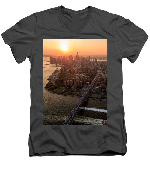 Colors Of Ny Men's V-Neck T-Shirt