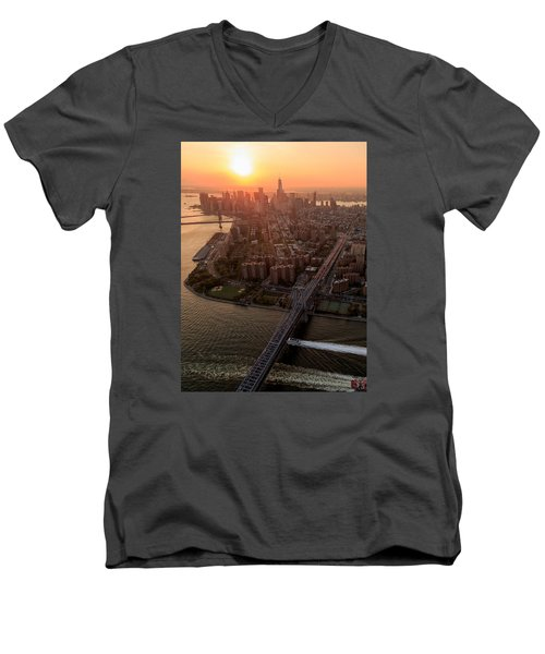 Colors Of Ny Men's V-Neck T-Shirt