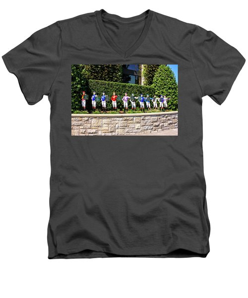 Colors Of Past Stakes At Keeneland Ky Men's V-Neck T-Shirt by Chris Smith