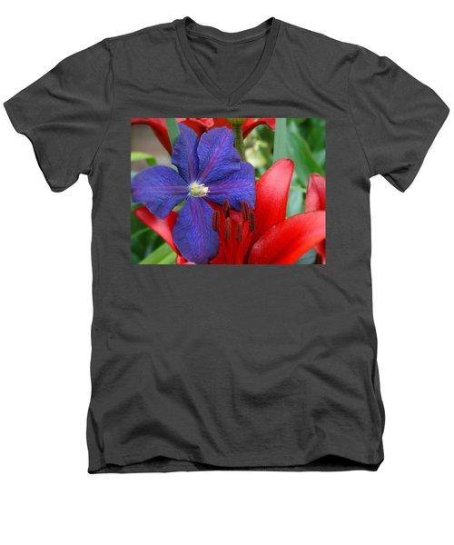 Colors Of Summer Men's V-Neck T-Shirt by Rebecca Overton