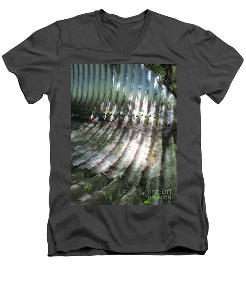 Men's V-Neck T-Shirt featuring the photograph Colors Of The Culvert by Marie Neder