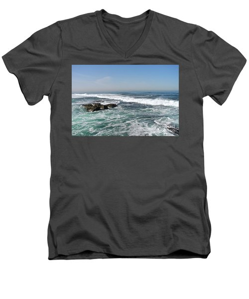 Colors Of The Sea Men's V-Neck T-Shirt by Carol  Bradley