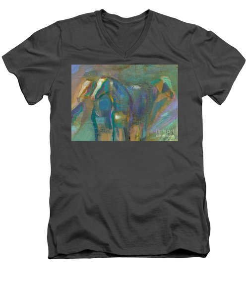 Men's V-Neck T-Shirt featuring the painting Colors Of The Southwest by Frances Marino