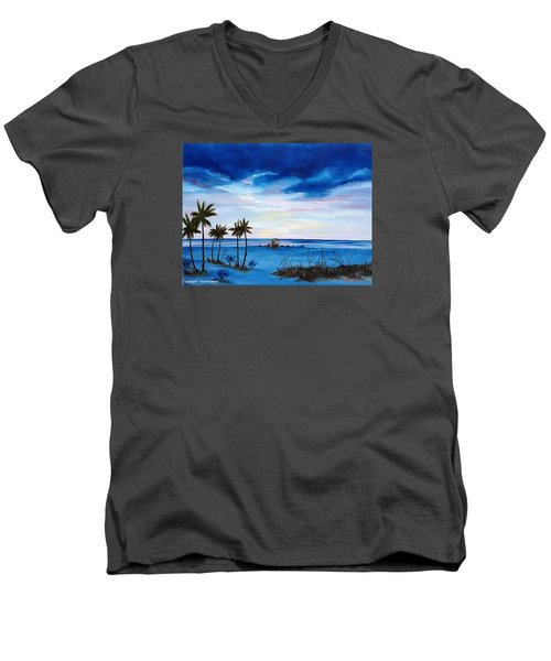 Colors On The Gulf Men's V-Neck T-Shirt by Lloyd Dobson
