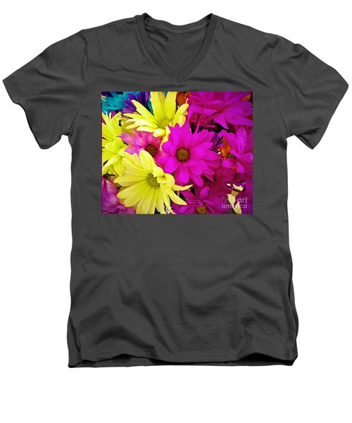 Men's V-Neck T-Shirt featuring the photograph Colors by Robert Knight