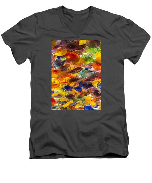 Men's V-Neck T-Shirt featuring the photograph Colors by Tyson and Kathy Smith