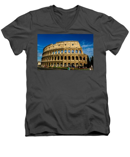 Colosseo Roma Men's V-Neck T-Shirt