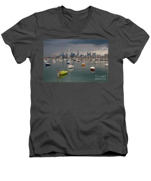 Colour Of Melbourne 2 Men's V-Neck T-Shirt by Werner Padarin