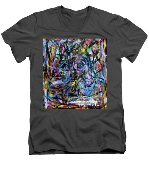 Colour Talking Men's V-Neck T-Shirt