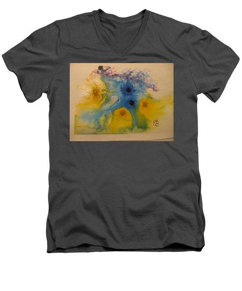 Colourful Men's V-Neck T-Shirt by AJ Brown