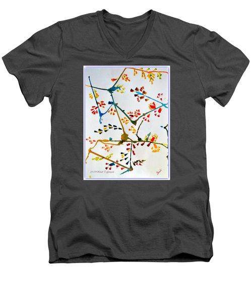 Colourful Blossoms Men's V-Neck T-Shirt by Sonali Gangane