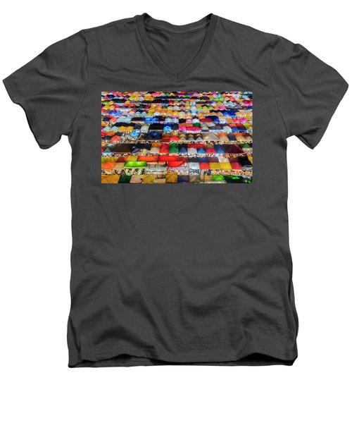 Colourful Night Market Men's V-Neck T-Shirt