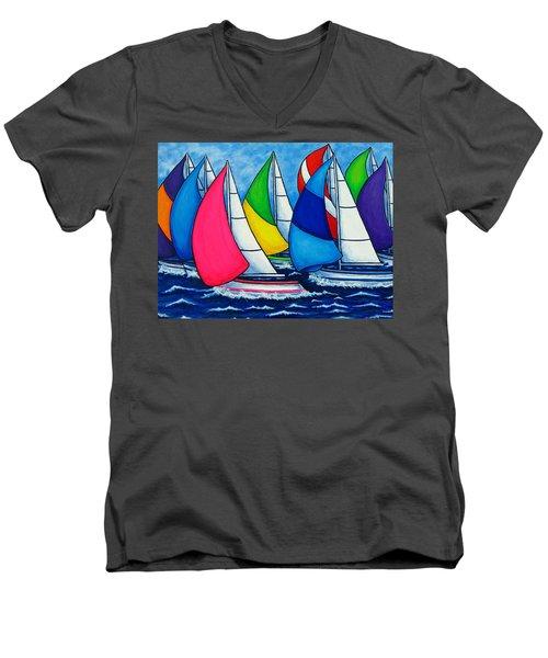 Colourful Regatta Men's V-Neck T-Shirt