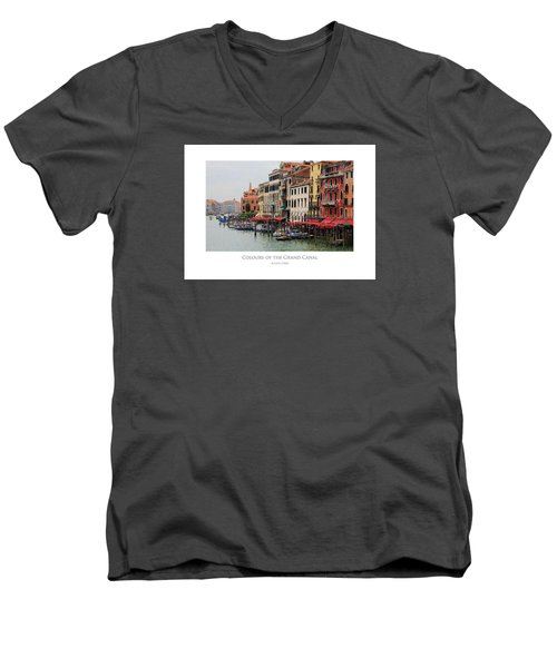 Colours Of The Grand Canal Men's V-Neck T-Shirt