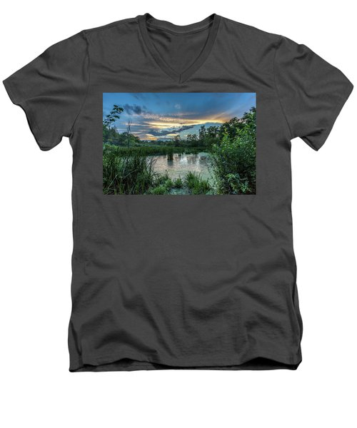 Columbia Marsh Sunset Men's V-Neck T-Shirt