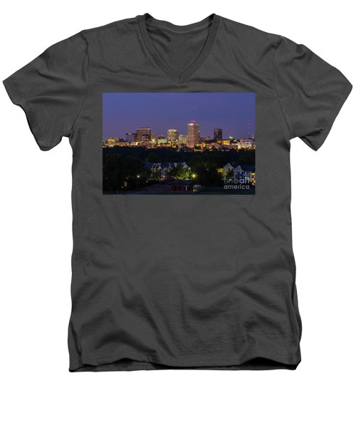 Columbia Skyline At Twilight Men's V-Neck T-Shirt