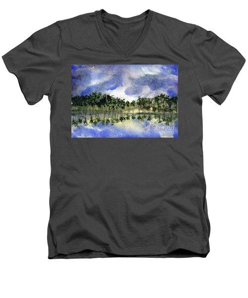 Columbian Shoreline Men's V-Neck T-Shirt
