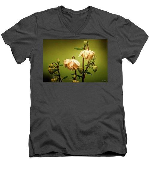 Columbines In Summer Men's V-Neck T-Shirt by Skip Tribby