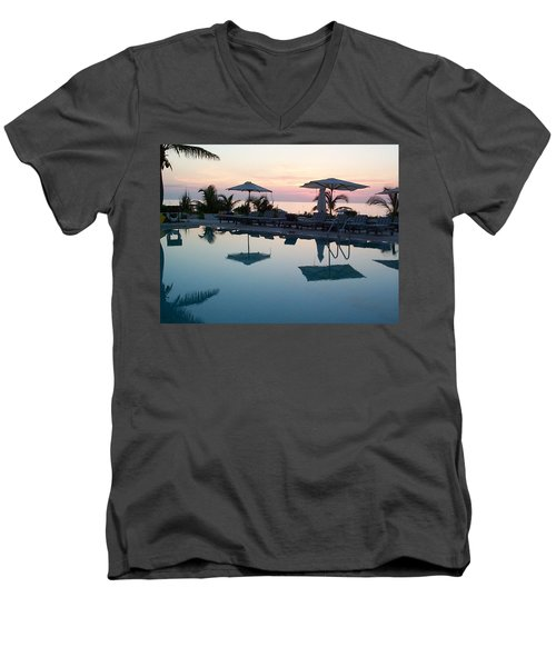 Men's V-Neck T-Shirt featuring the photograph Columbus Isle by Mary-Lee Sanders
