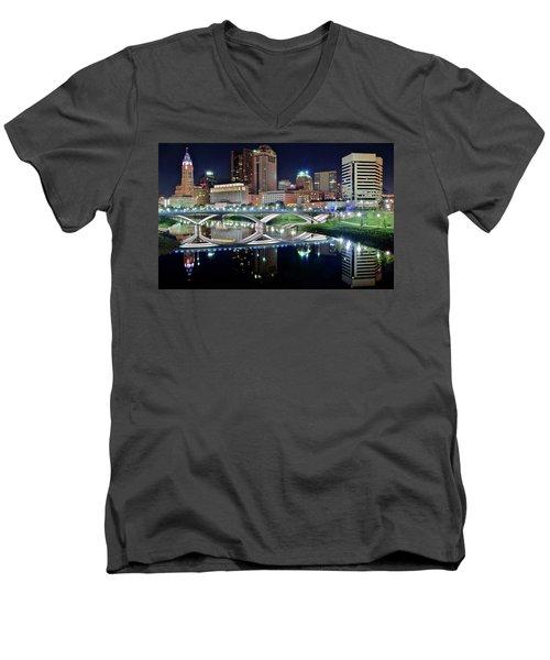 Columbus Over The Scioto Men's V-Neck T-Shirt