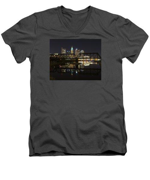 Columbus Skyline Men's V-Neck T-Shirt by Alan Raasch
