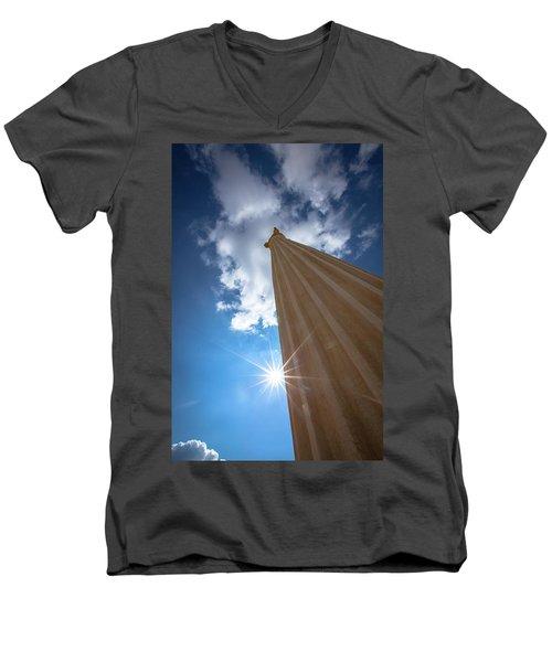 Column To Sky Men's V-Neck T-Shirt