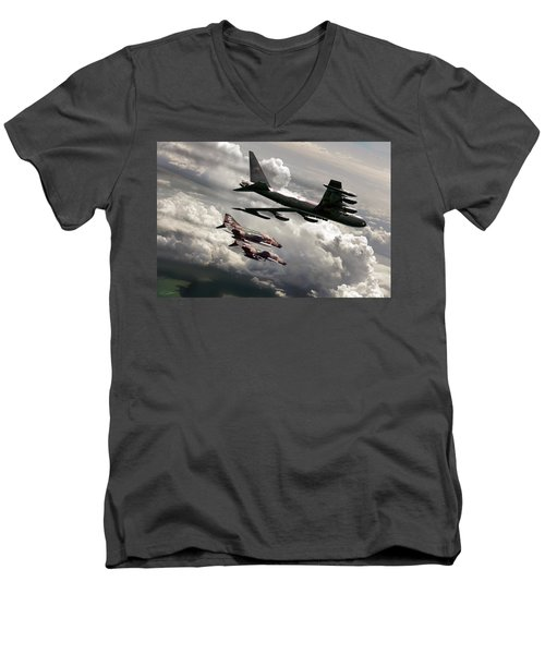 Combat Air Patrol Men's V-Neck T-Shirt by Peter Chilelli