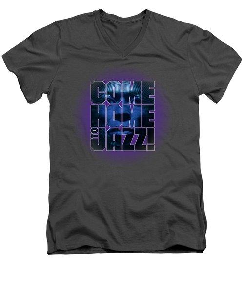 Come Home To Jazz Men's V-Neck T-Shirt