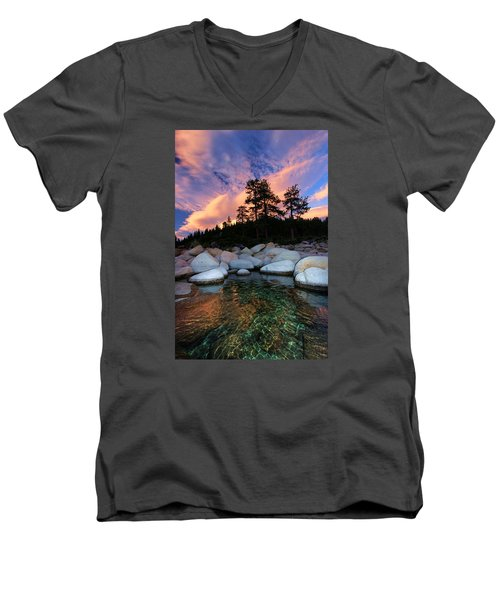 Come Into My World Men's V-Neck T-Shirt by Sean Sarsfield
