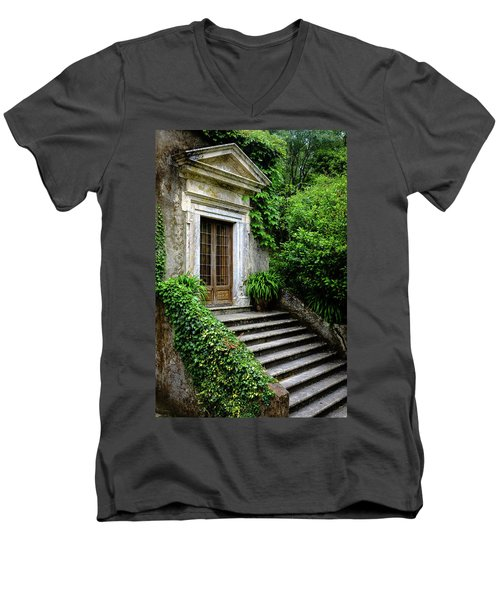 Men's V-Neck T-Shirt featuring the photograph Come On Up To The House by Marco Oliveira
