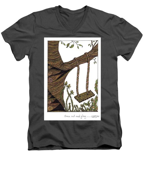 Come Out And Play Men's V-Neck T-Shirt