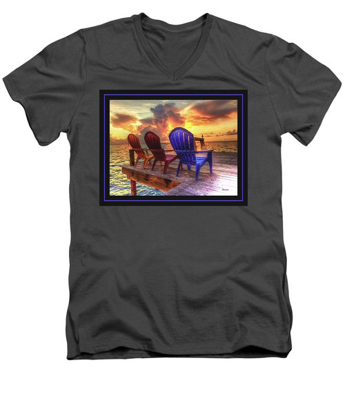 Men's V-Neck T-Shirt featuring the photograph Come Sit A While by Steven Lebron Langston