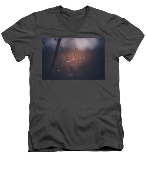 Men's V-Neck T-Shirt featuring the photograph Come Slowly by Shane Holsclaw