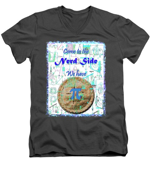 Come To The Nerd Side Men's V-Neck T-Shirt by Michele Avanti