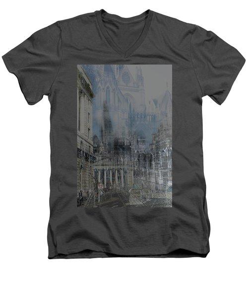 Comes The Night - City Deamscape Men's V-Neck T-Shirt
