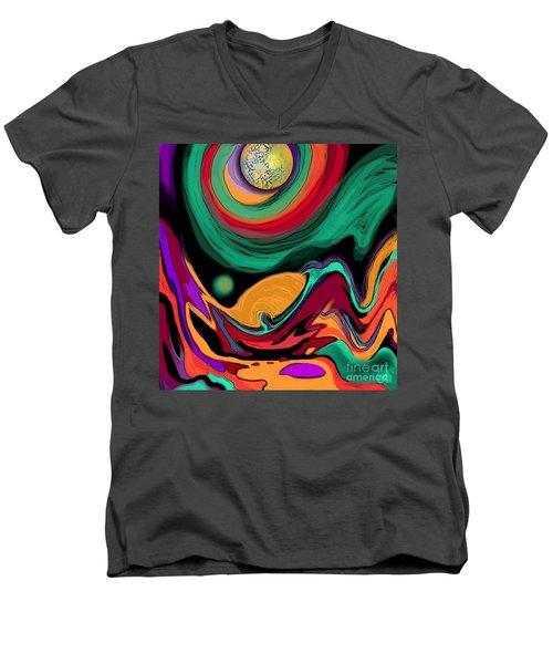 Comet II Men's V-Neck T-Shirt by Carol Jacobs
