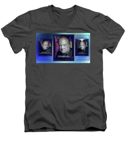 Cometh The Hour . . .  Men's V-Neck T-Shirt
