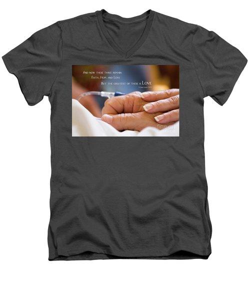 Comforting Hand Of Love Men's V-Neck T-Shirt