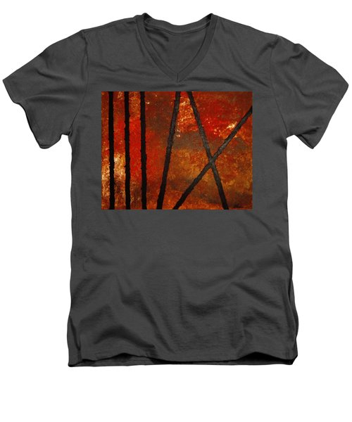 Coming Apart Men's V-Neck T-Shirt