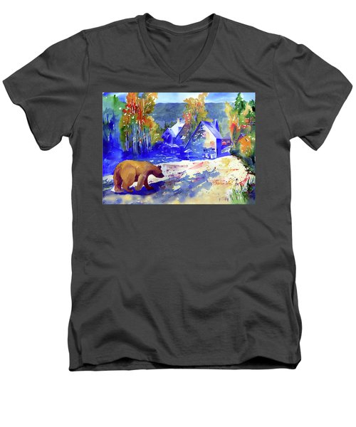 Coming For Dinner At Rainbow Lodge Men's V-Neck T-Shirt