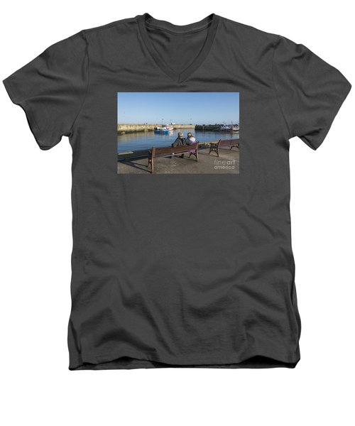 Comings And Goings Men's V-Neck T-Shirt by David  Hollingworth