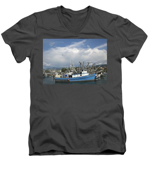 Men's V-Neck T-Shirt featuring the photograph Commerical Fishing Boats by Elvira Butler