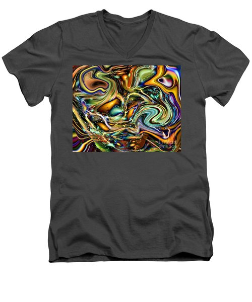 Commotion In The Motion Vii Men's V-Neck T-Shirt by Jim Fitzpatrick