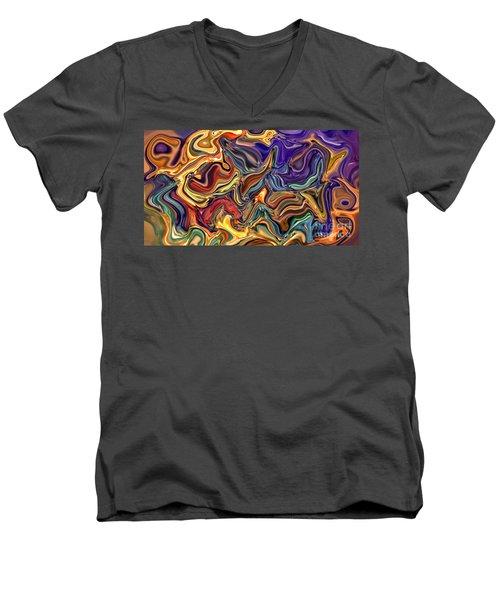 Commotion In The Motion Xvi Men's V-Neck T-Shirt