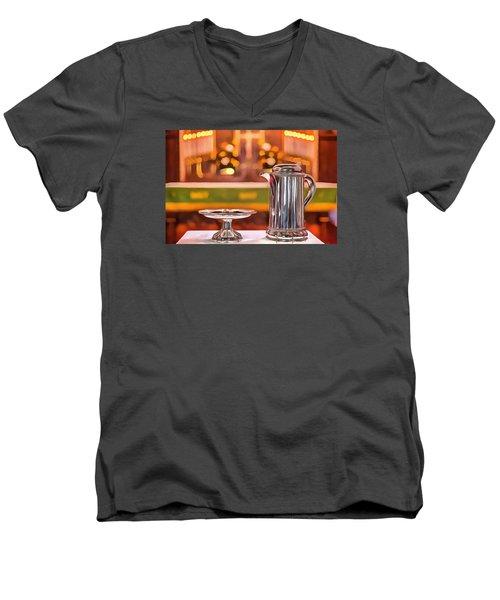 Communion Silver 1800 Men's V-Neck T-Shirt by Jim Proctor