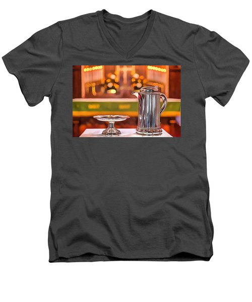 Communion Silver 1800 Men's V-Neck T-Shirt