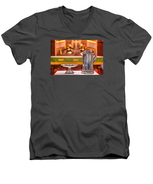 Communion Silver 1800 Men's V-Neck T-Shirt