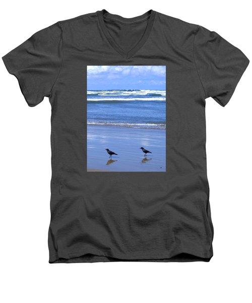 Companion Crows Men's V-Neck T-Shirt