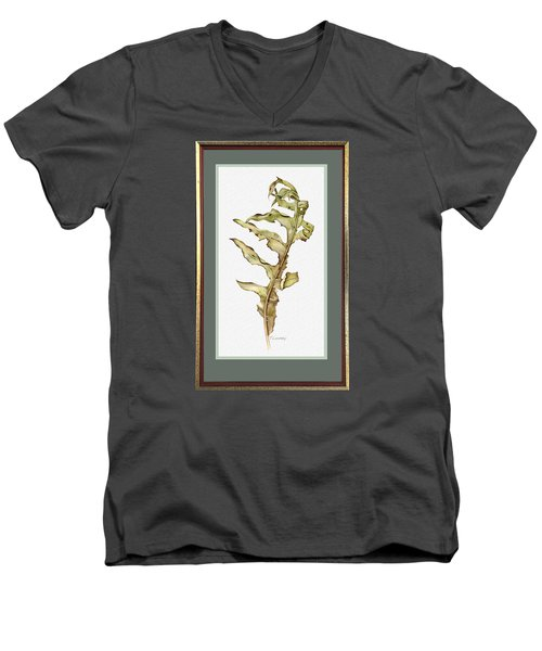 Compass Plant, Fall Men's V-Neck T-Shirt by Catherine Twomey